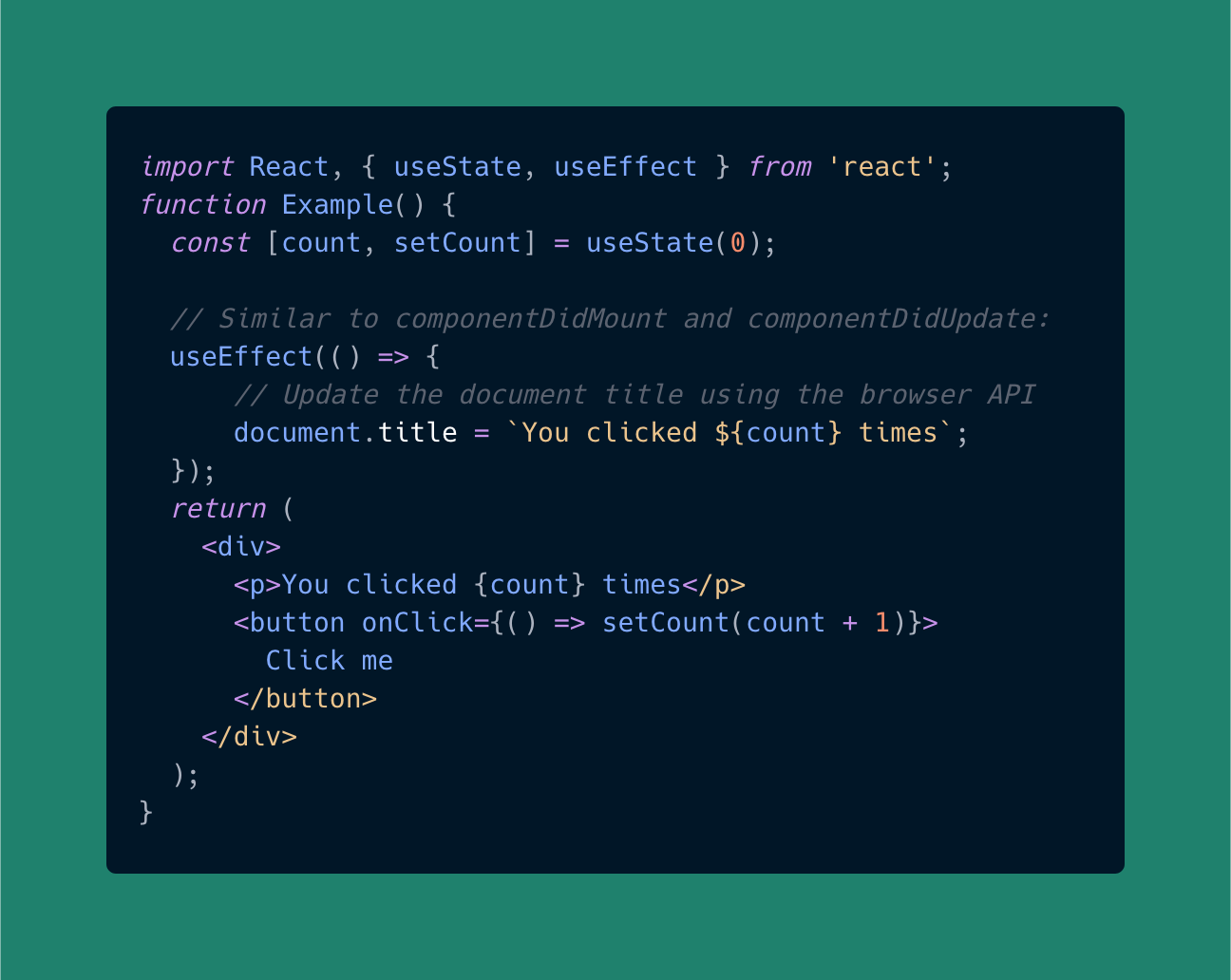 useEffect hook in React