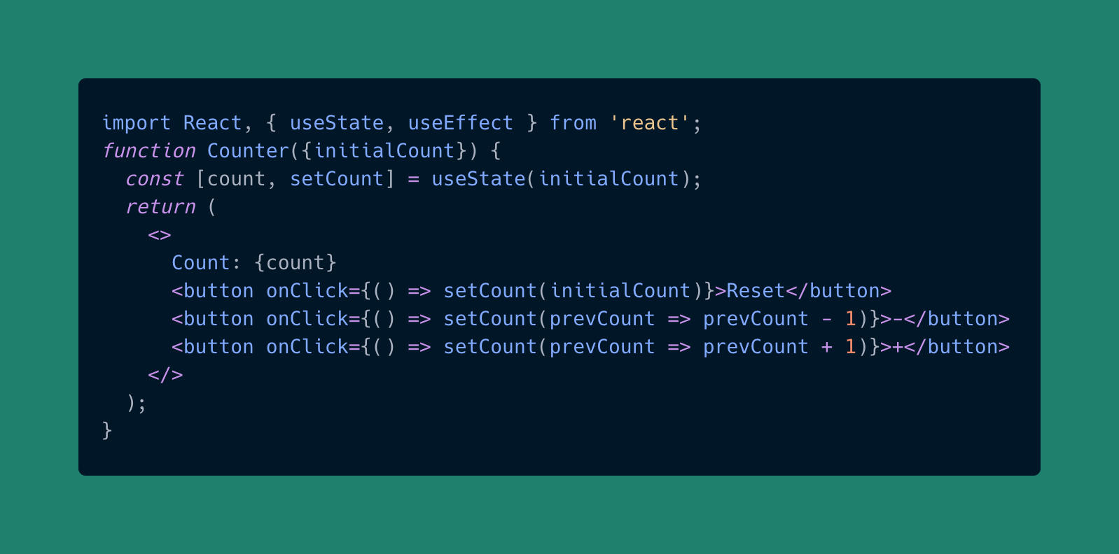 useState hook in React